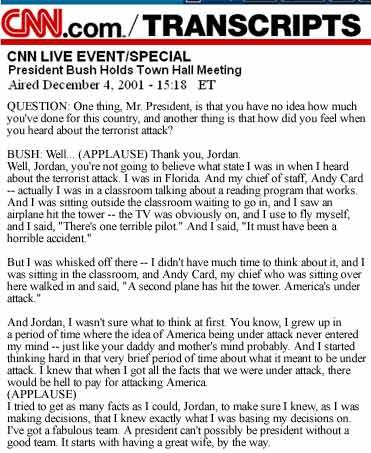 Bush Transcript
